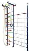 Вертикаль (ГранВиС) ДСК Юнга-1+, Г-образный с дополнительной стойкой и канатной сеткой (высота потолка от 2,35 до 2,95 метров)