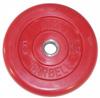 MB Barbell Диск для штанги цветной обрезиненный, 5 кг (51 мм), серия Стандарт