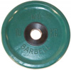 MB Barbell Диск олимпийский цветной обрезиненный, 10 кг (51 мм), серия Евро-классик